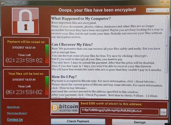 Ransomware WannyCrypt WannyCry NSA ETERNALBLUE used in World Wide Attack